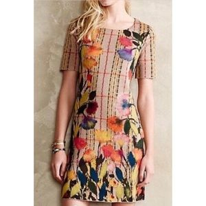 Anthropologie Troubadour Medium Wool Floral Dress